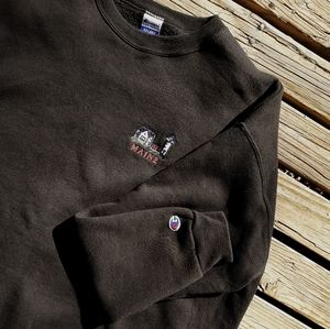 "Vintage 90s Champion ""Maine"" Sweater"